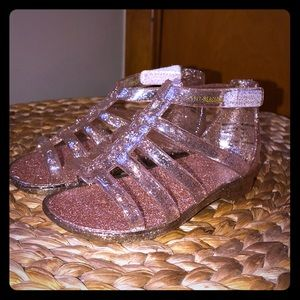Gold shimmery baby sandals